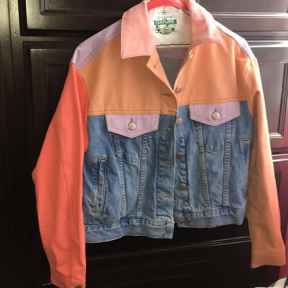 7d0ce33143e6 ASOS Jackets   Blazers - ASOS Denim Jacket in Colorblock Size 0